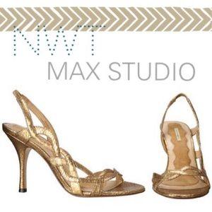 Max Studio Strappy Gold sandals - seahorse